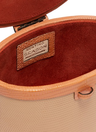 Detail View - Click To Enlarge - HUNTING SEASON - 'The Round Trunk' in lizardskin leather