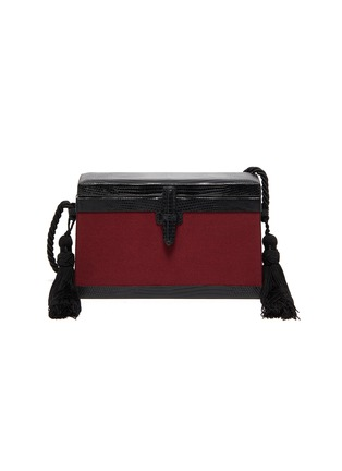 Main View - Click To Enlarge - HUNTING SEASON - 'The Square Trunk' lizardskin leather panelled tassel bag