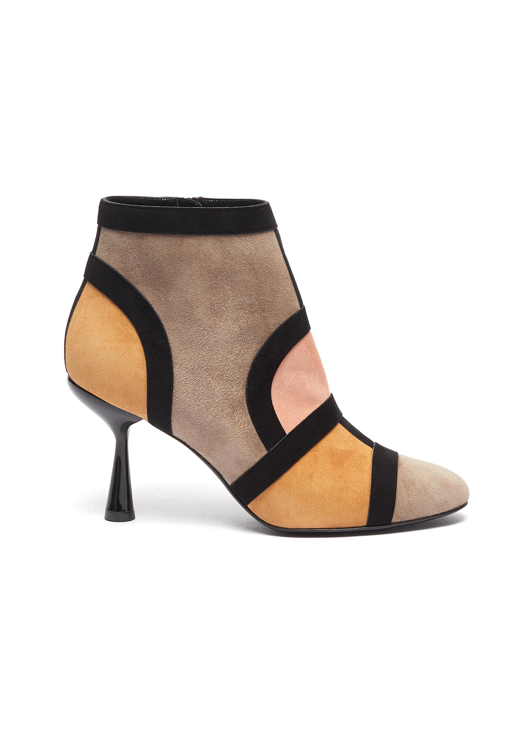 Frame suede patchwork ankle boots by Pierre Hardy