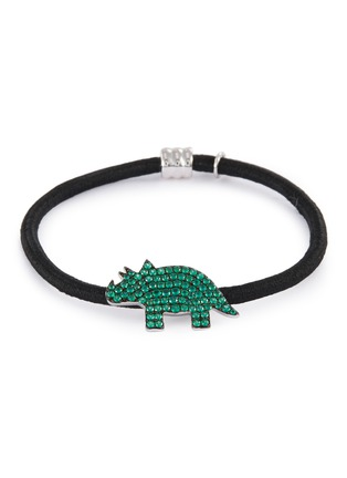 Main View - Click To Enlarge - HEFANG - 'Rhinoceros' cubic zirconia charm hair tie