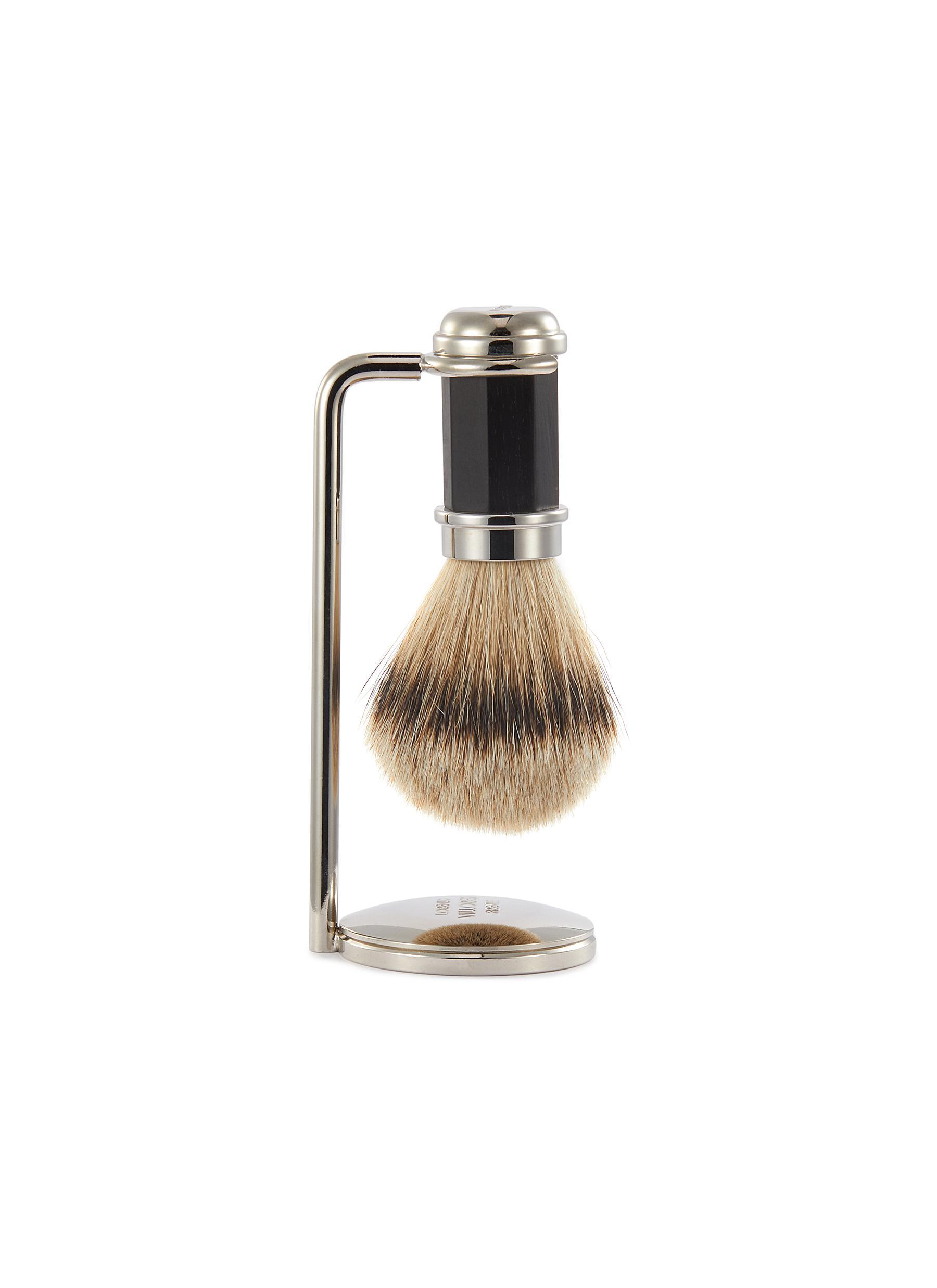 Ebony wood shaving brush set