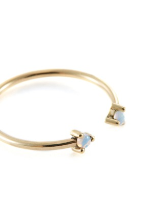 Detail View - Click To Enlarge - WWAKE - 'Two Step' opal 14k yellow gold open ring