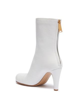 - BOTTEGA VENETA - Square toe leather mid calf boots