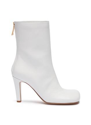 Main View - Click To Enlarge - BOTTEGA VENETA - Square toe leather mid calf boots