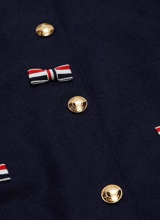 - THOM BROWNE - Stripe bow appliqué cricket stripe border varsity jacket