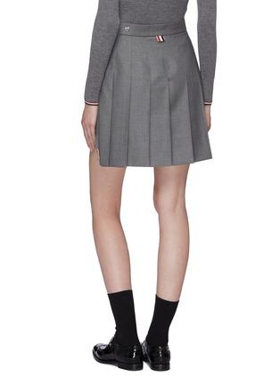 Thom Browne Pleated Wool Twill High Low Skirt Women