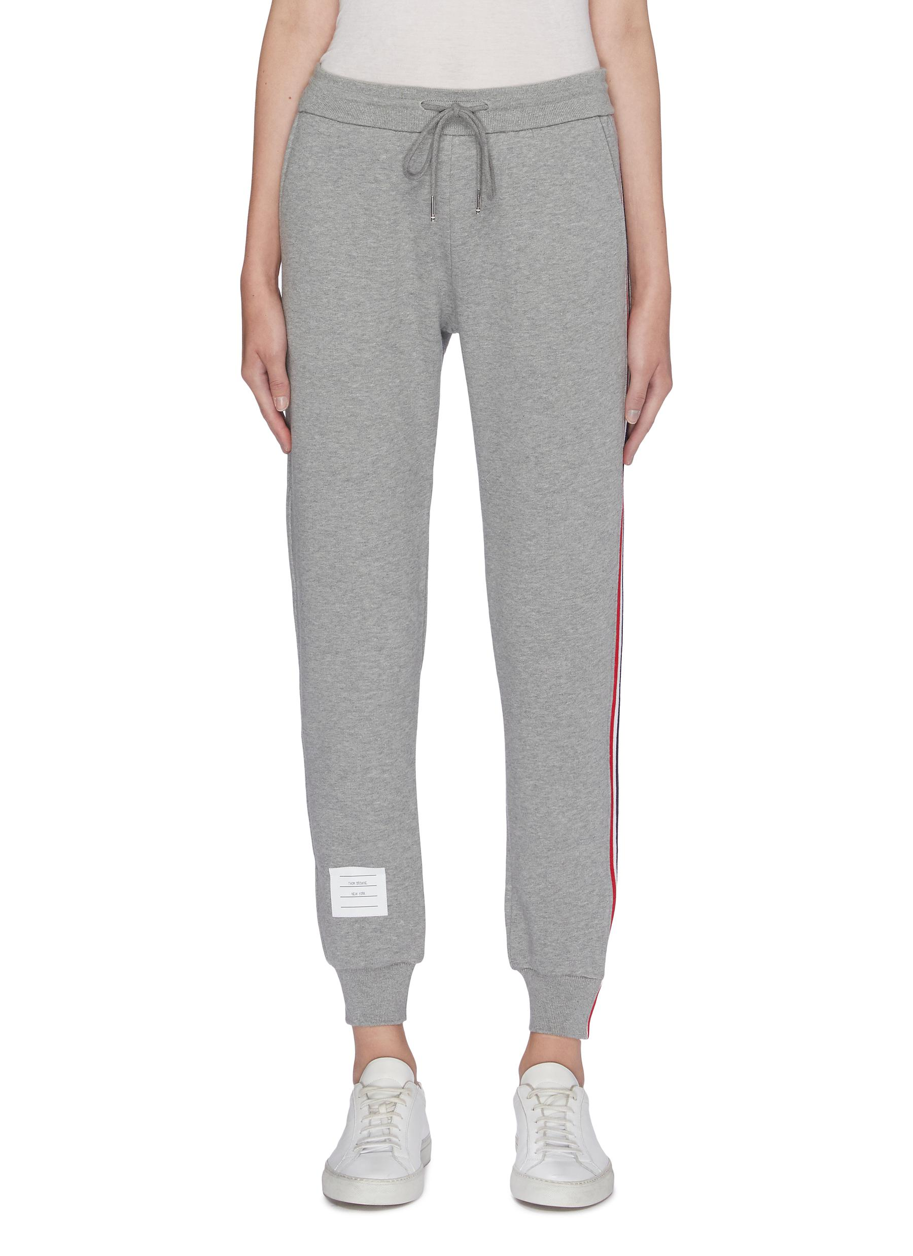 Stripe outseam sweatpants by Thom Browne
