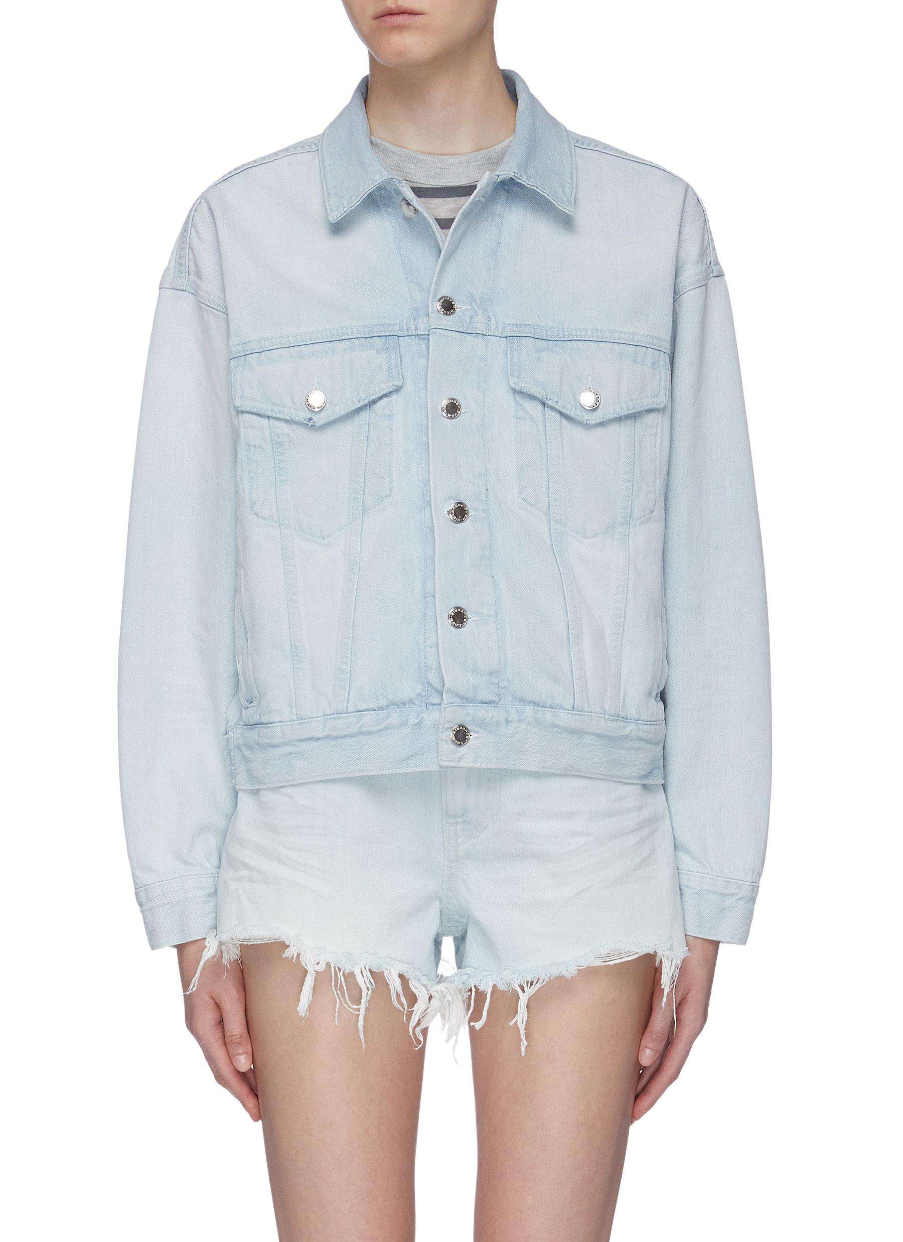 Game washed oversized denim trucker jacket by Alexanderwang