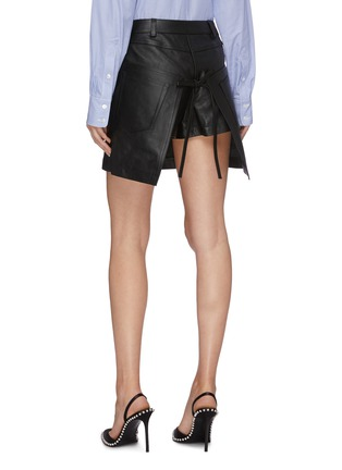 Back View - Click To Enlarge - ALEXANDER WANG - Leather apron skirt