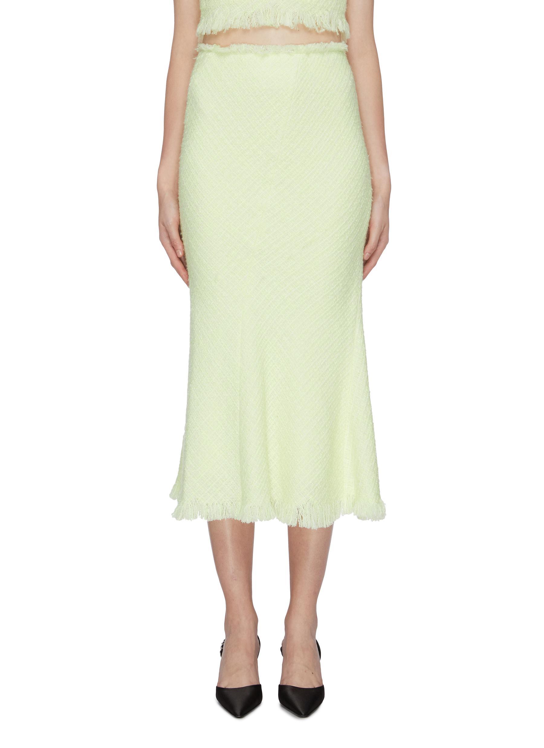 Frayed edge tweed skirt by Alexanderwang