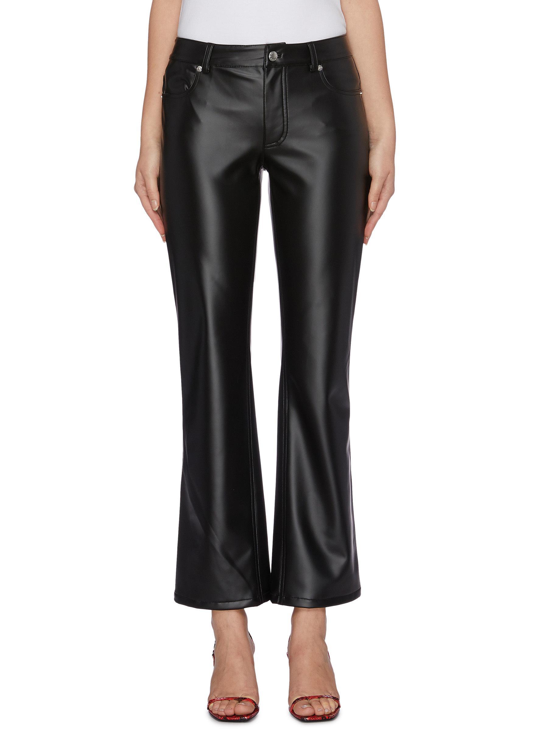 Latex bootcut pants by Alexanderwang