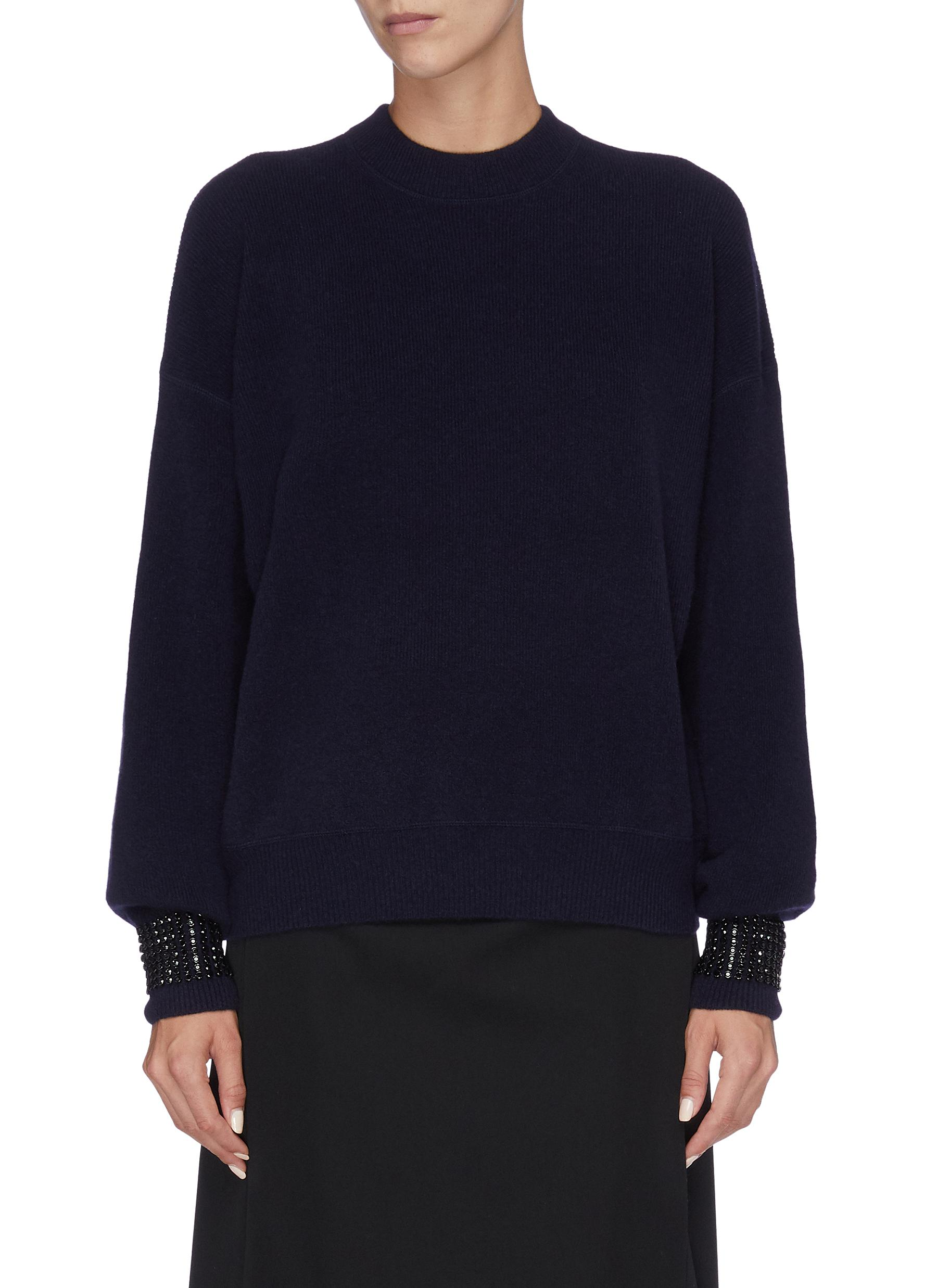 Strass embellished cuff sweater by Alexanderwang