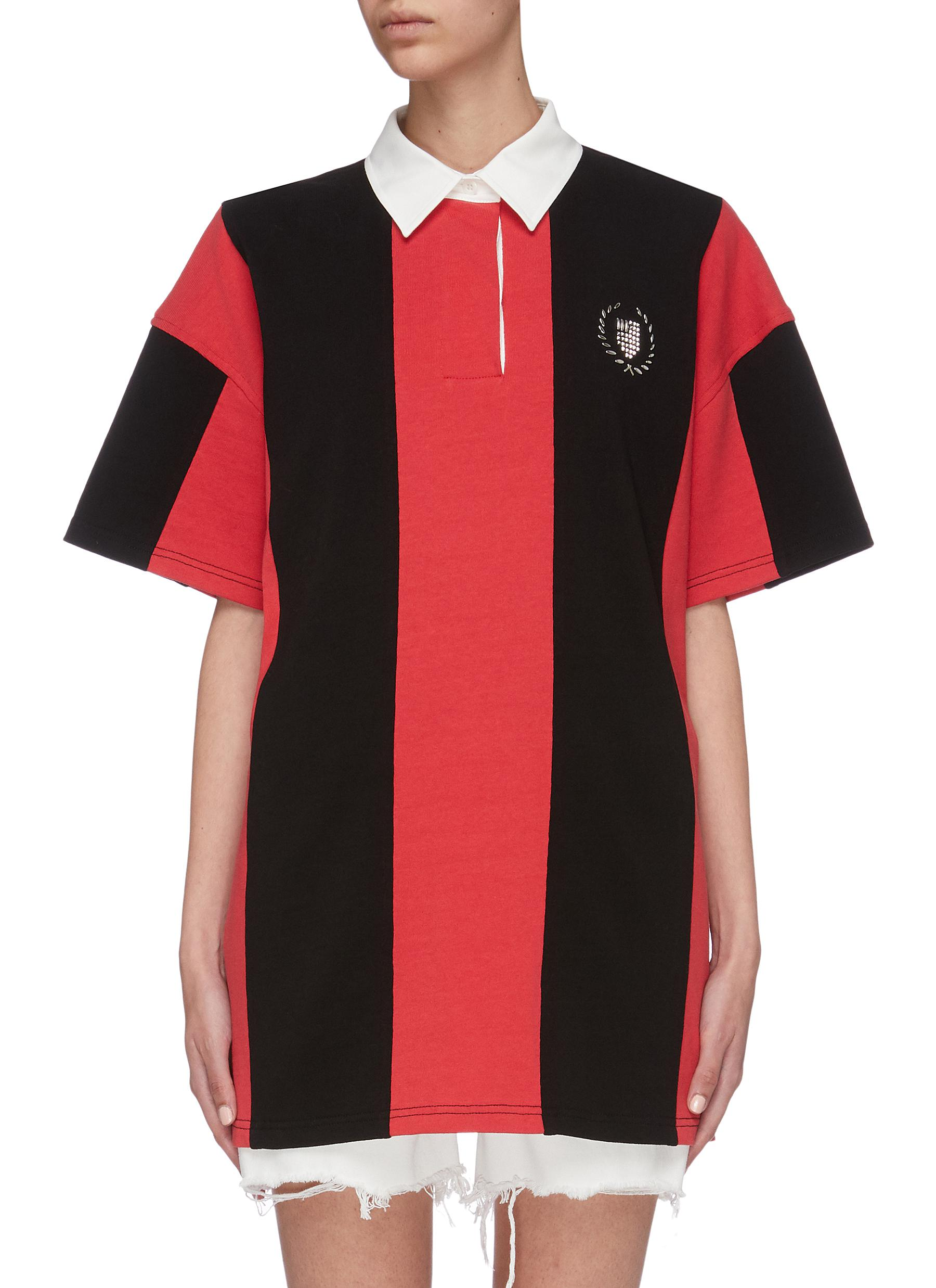 Rugby stripe oversized polo shirt by Alexanderwang