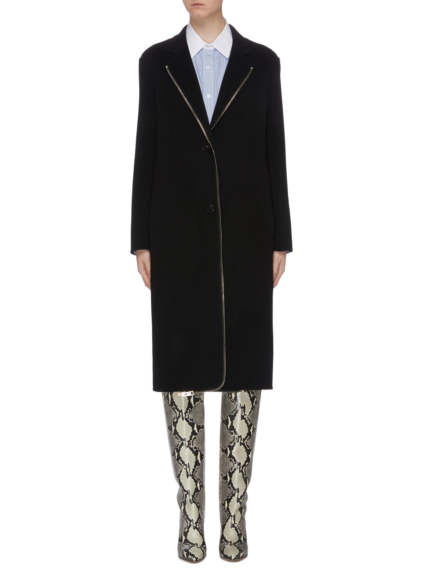 Contrast zip edge coat by Alexanderwang