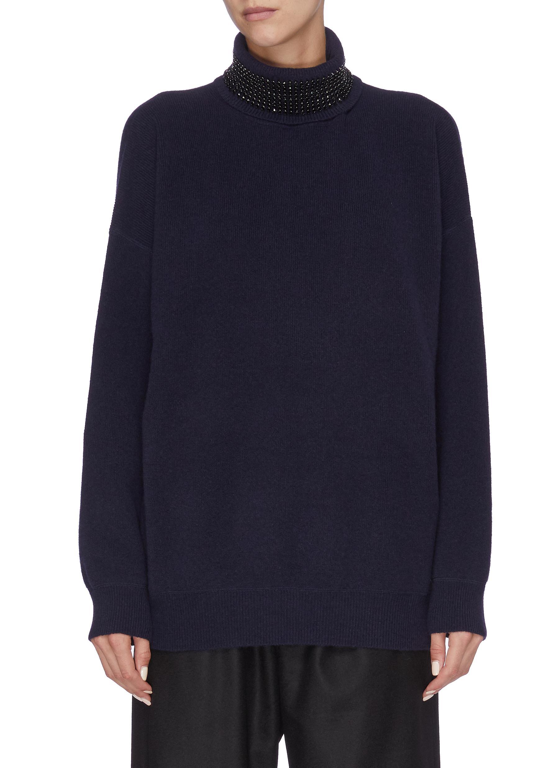 Strass embellished turtleneck sweater by Alexanderwang