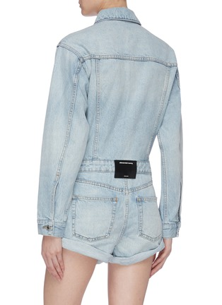 Back View - Click To Enlarge - ALEXANDER WANG - Washed denim rompers