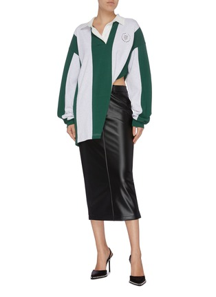 Figure View - Click To Enlarge - ALEXANDER WANG - Latex skirt