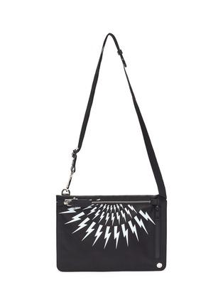 Main View - Click To Enlarge - NEIL BARRETT - Thunderbolt print crossbody bag