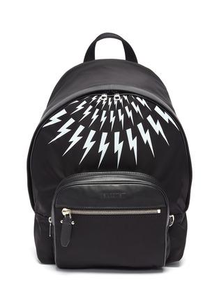 Main View - Click To Enlarge - NEIL BARRETT - Thunderbolt print backpack