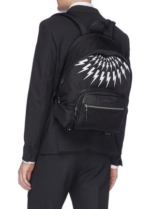 Figure View - Click To Enlarge - NEIL BARRETT - Thunderbolt print backpack