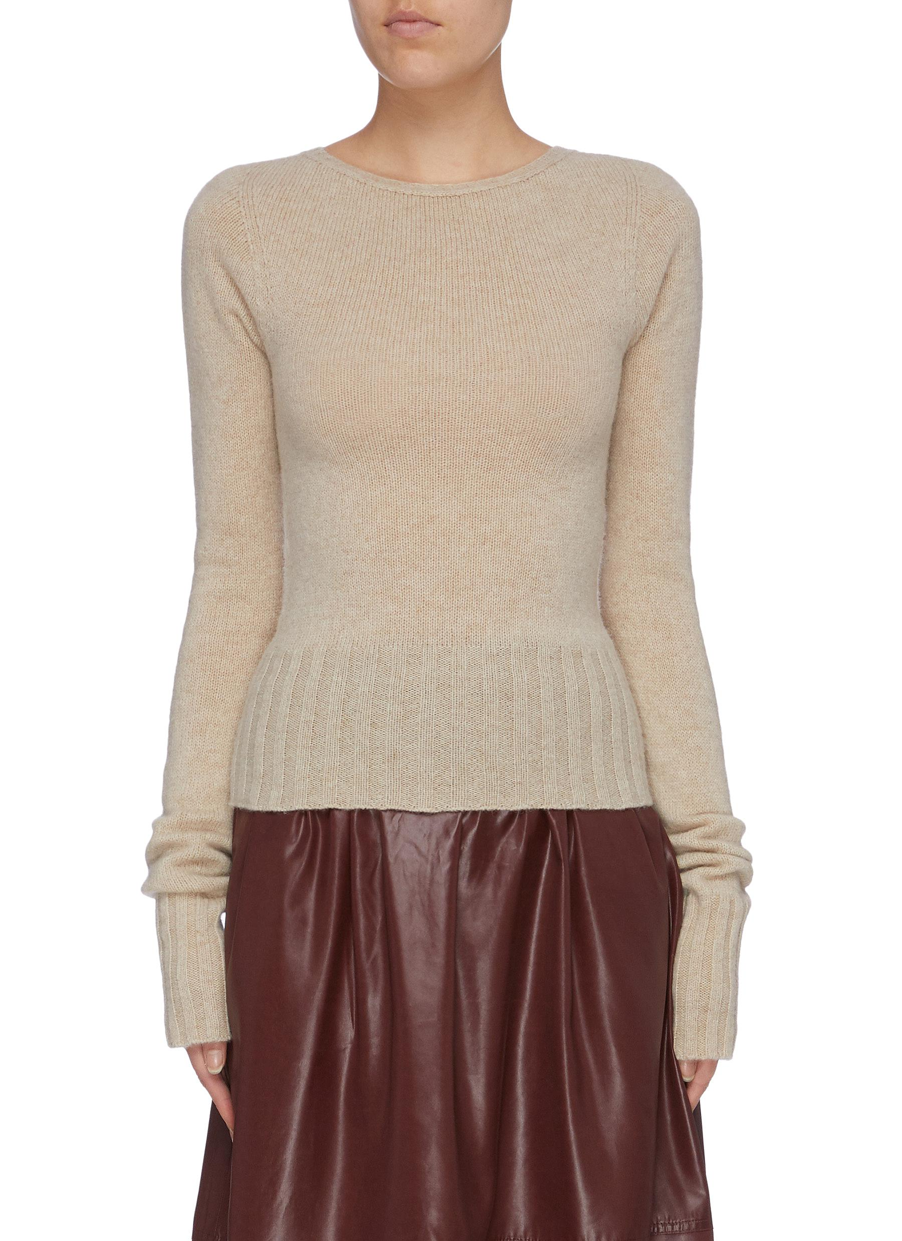 Ribbed hem sweater by Lemaire