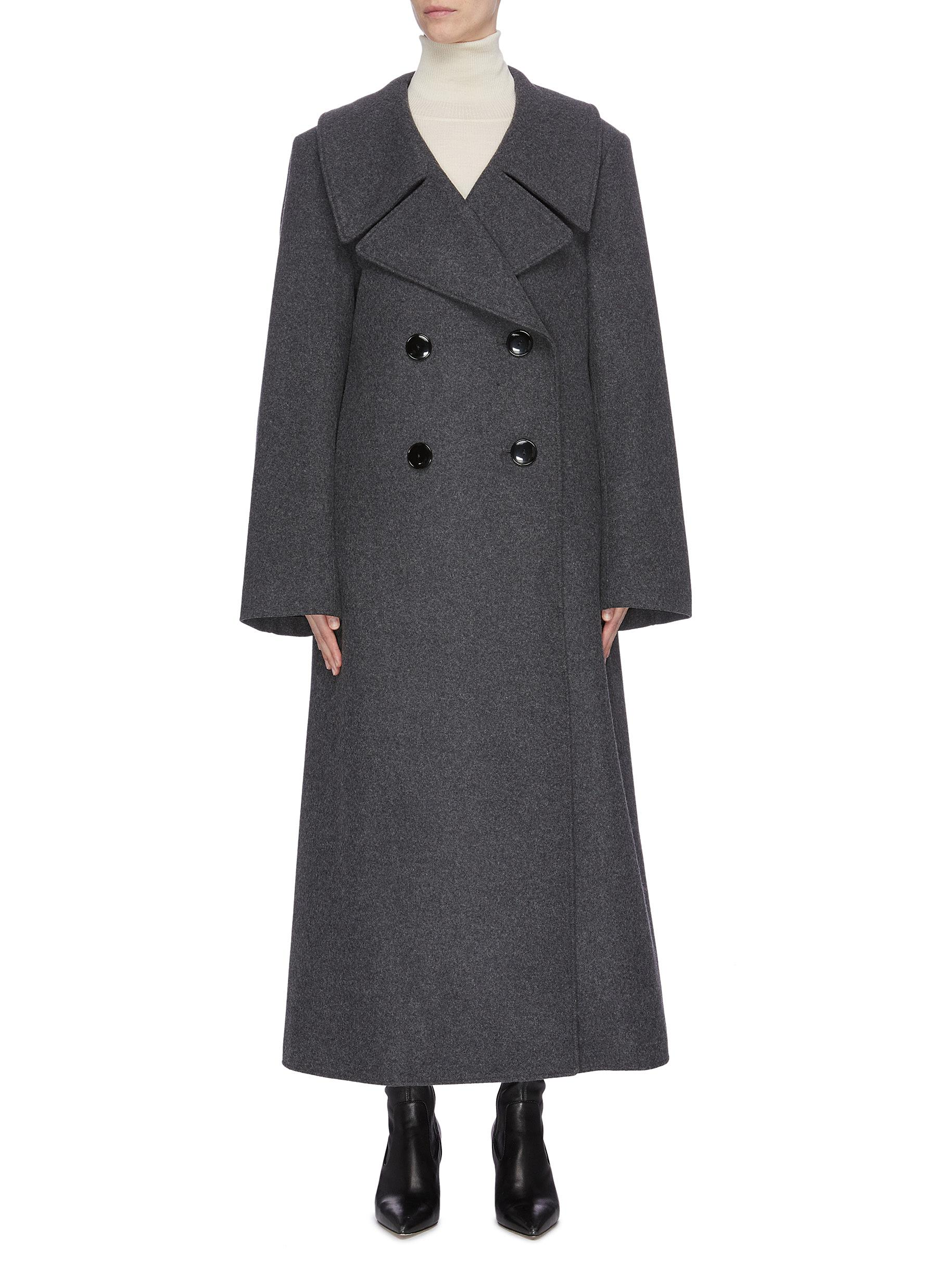 Double-breasted melton coat by Lemaire