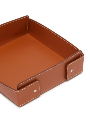 Detail View - Click To Enlarge - CONNOLLY - Large leather desk tray