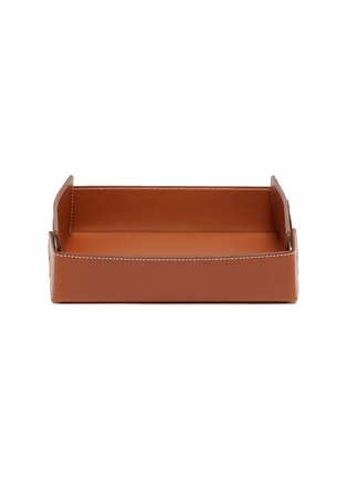 Main View - Click To Enlarge - CONNOLLY - Large leather desk tray
