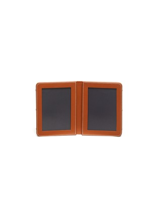 Main View - Click To Enlarge - CONNOLLY - Leather double photograph frame