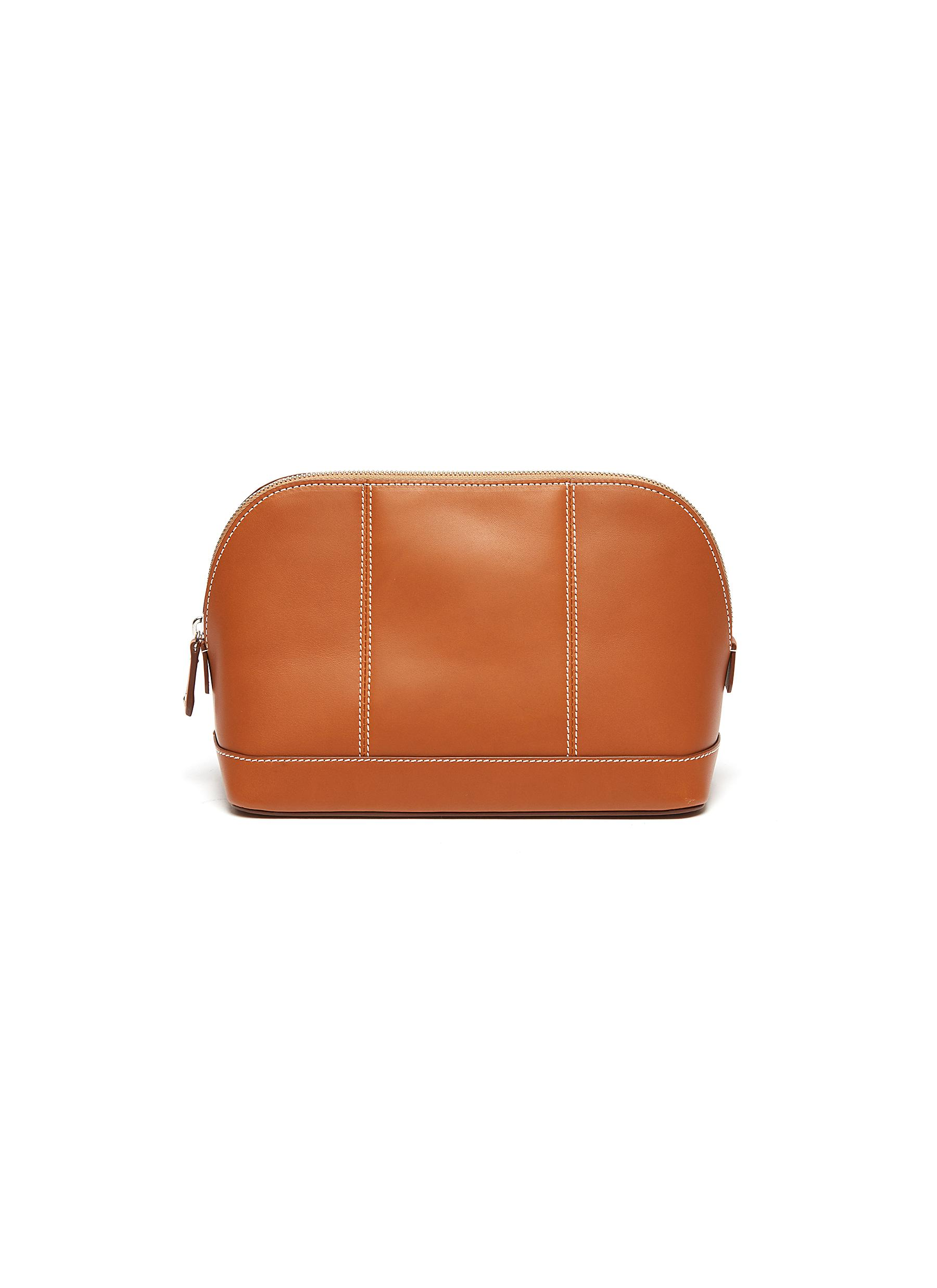 Small leather wash bag
