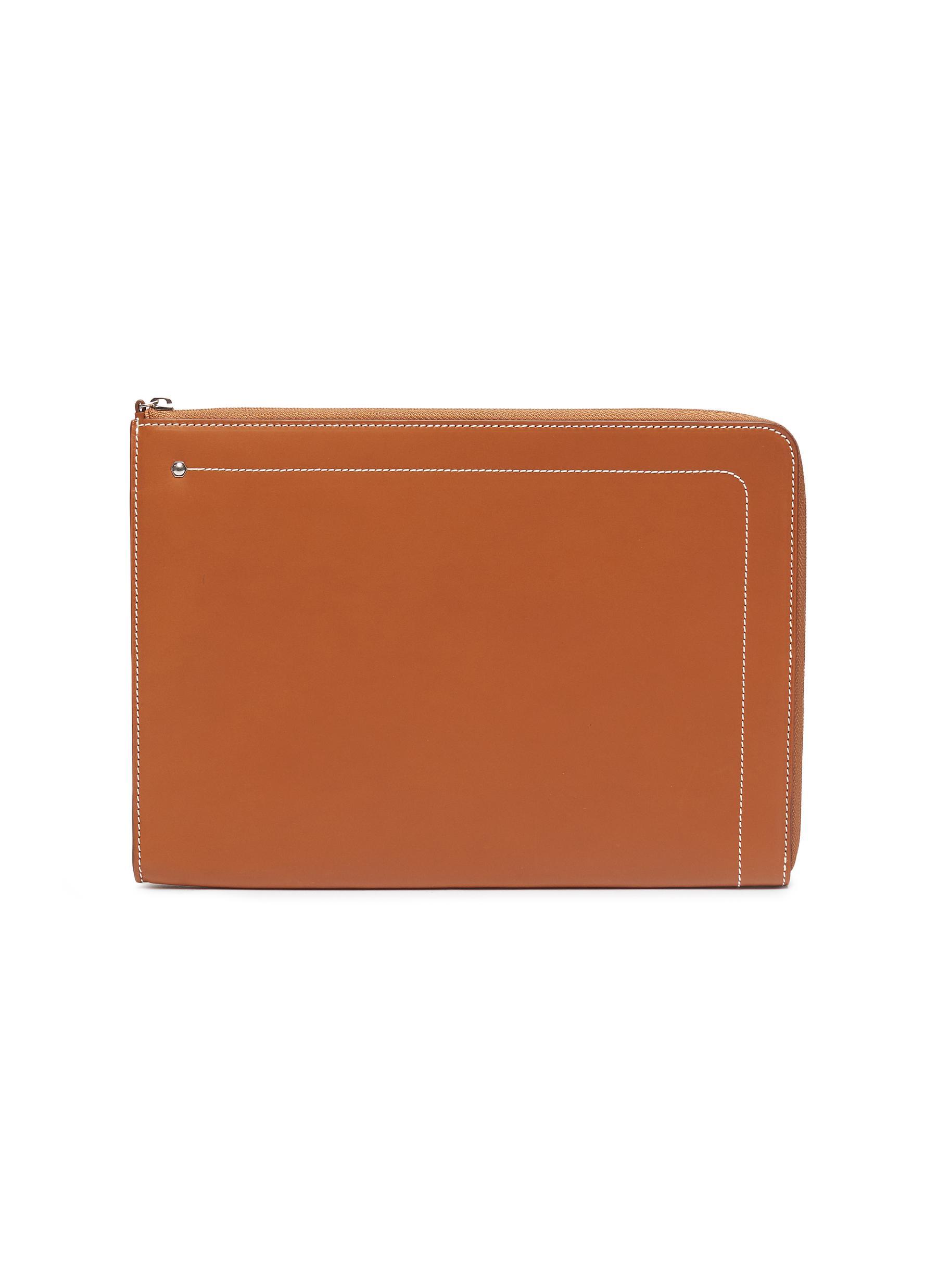 'Hex' leather tablet portfolio