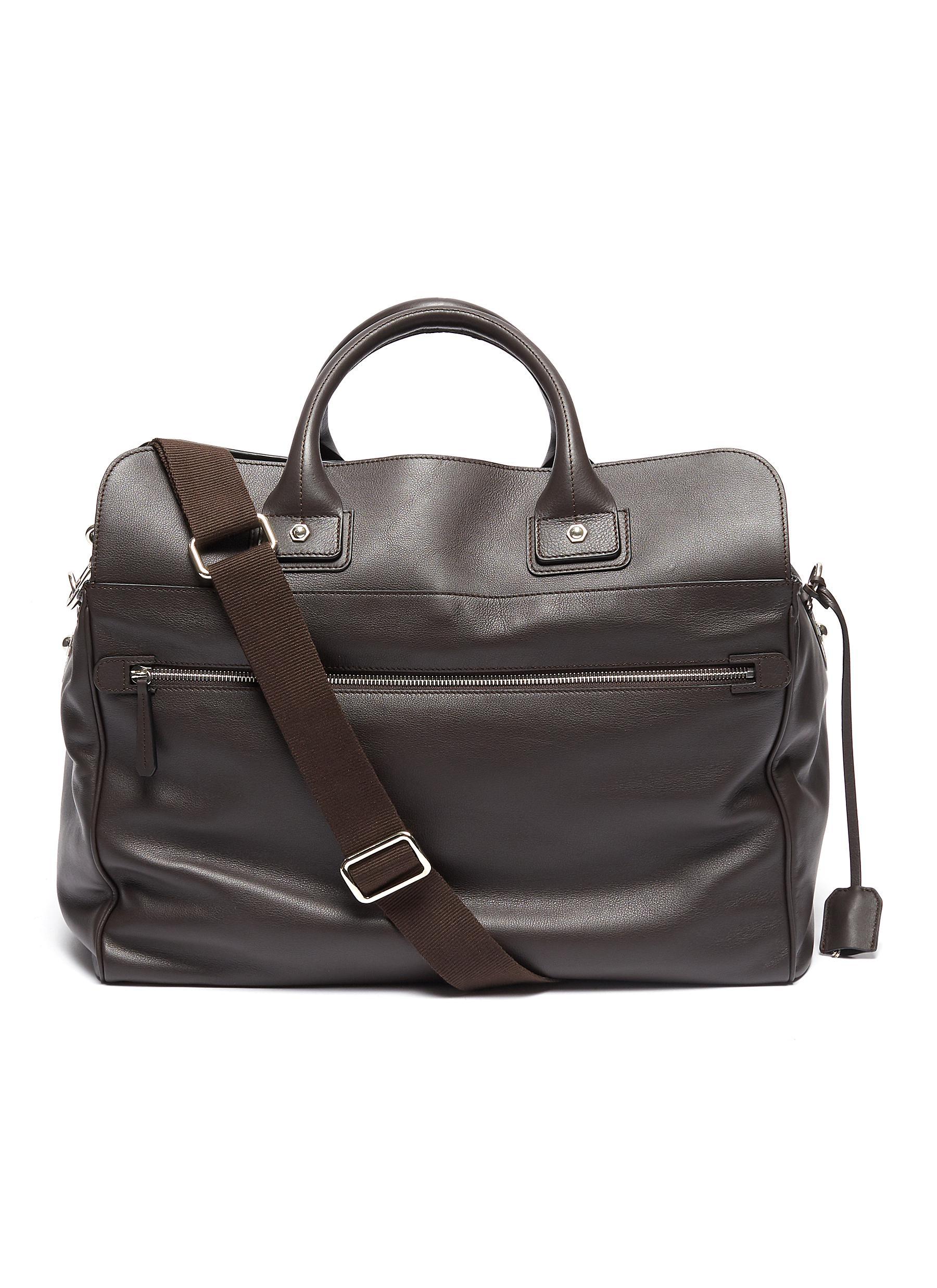 Medium leather sea bag