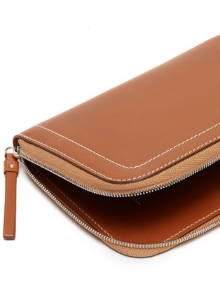 Detail View - Click To Enlarge - CONNOLLY - 'Hex' medium leather zip wallet