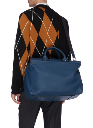 Front View - Click To Enlarge - CONNOLLY - Medium leather sea bag