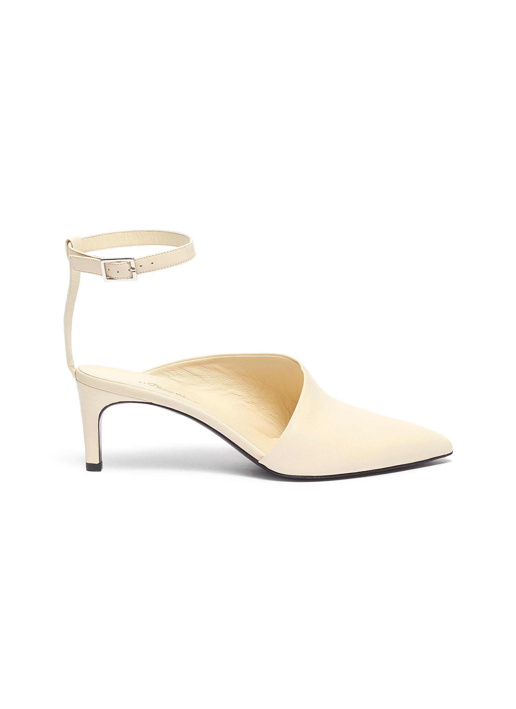 Nina slanted vamp leather ankle strap pumps by 3.1 Phillip Lim