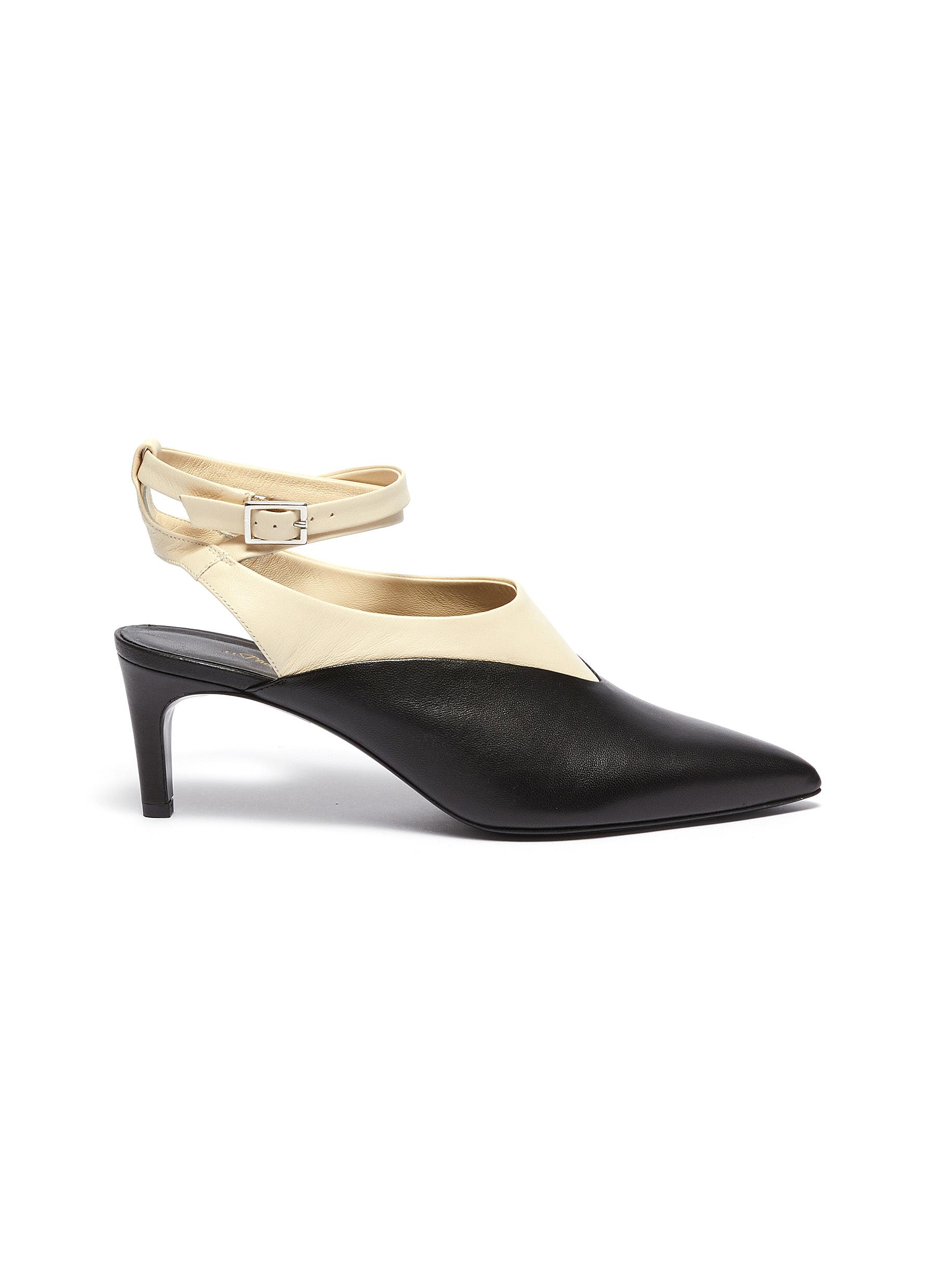 Nina Vamp crossover ankle colourblock leather slingback heels by 3.1 Phillip Lim