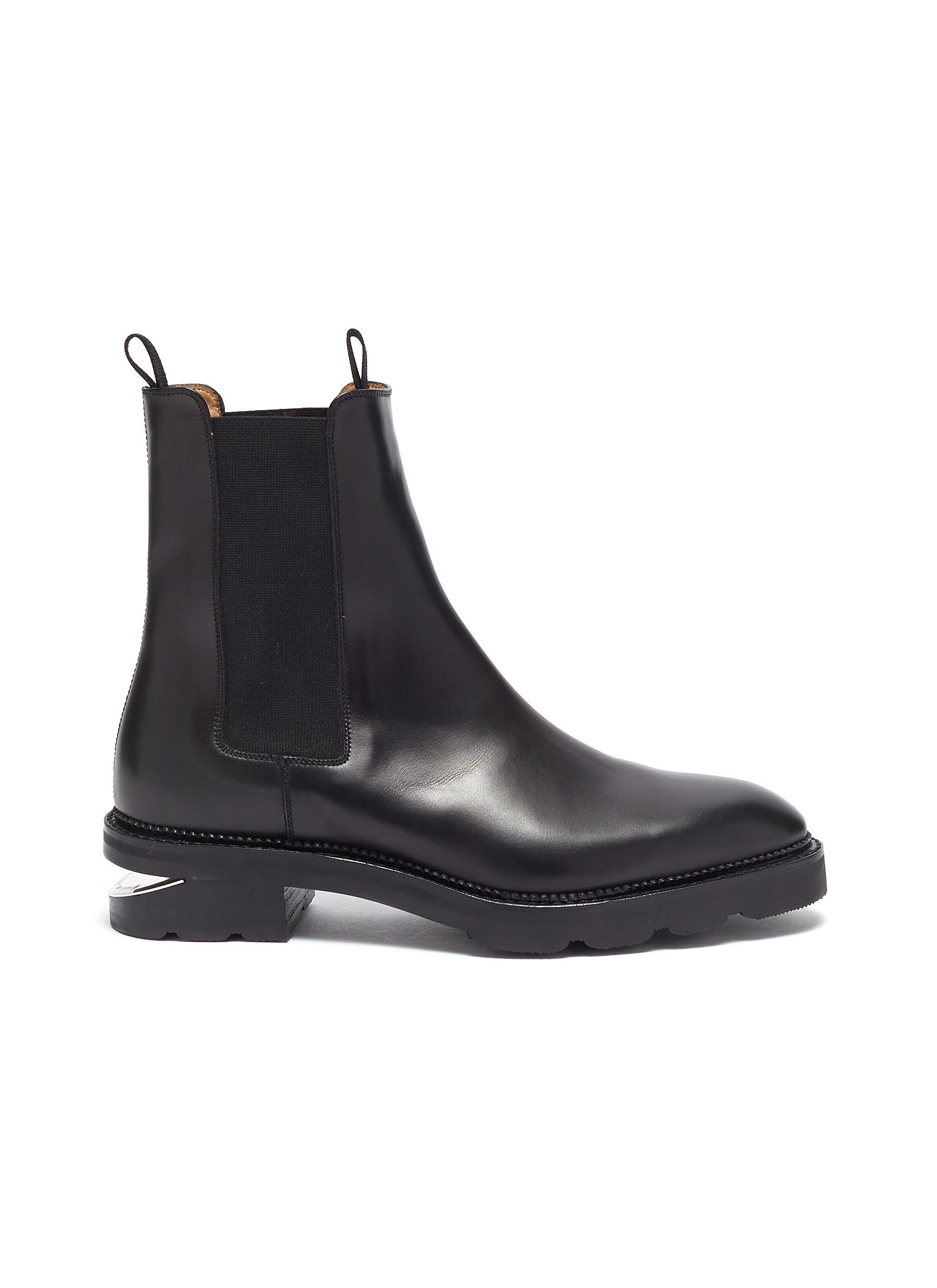 Andy cutout heel leather Chelsea boots by Alexanderwang