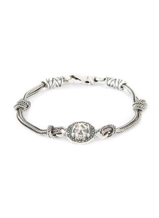 7b5c18cb0e25 EMANUELE BICOCCHI Skull coin knot sterling silver chain bracelet