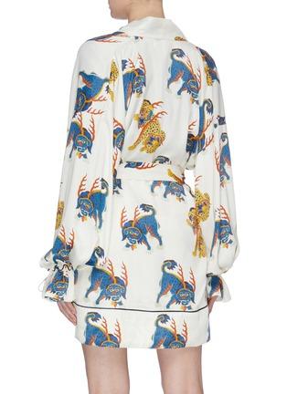 Back View - Click To Enlarge - KIRIN BY PEGGY GOU - 'Haetae' print belted kimono shirt