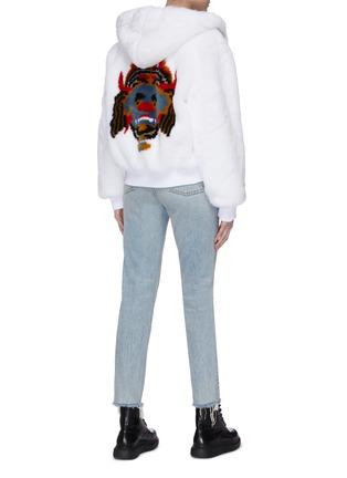 Figure View - Click To Enlarge - KIRIN BY PEGGY GOU - 'Haetae' print hooded faux fur jacket