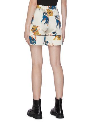 Back View - Click To Enlarge - KIRIN BY PEGGY GOU - 'Haetae' print duchesse pyjama shorts