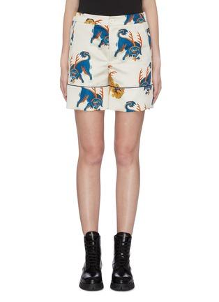 Main View - Click To Enlarge - KIRIN BY PEGGY GOU - 'Haetae' print duchesse pyjama shorts