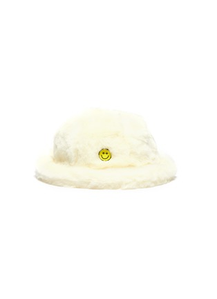 Main View - Click To Enlarge - KIRIN BY PEGGY GOU - 'Smile' graphic patch faux fur bucket hat
