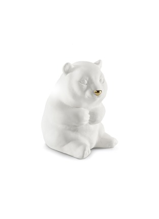 Main View - Click To Enlarge - AVERY - Ceramic Panda sculpture – White Gold
