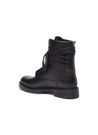 - AMIRI - Wraparound tie leather combat boots