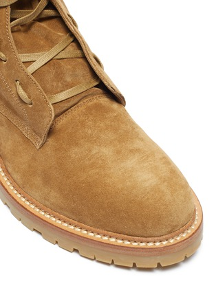 Detail View - Click To Enlarge - AMIRI - Wraparound tie suede combat boots