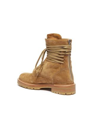 - AMIRI - Wraparound tie suede combat boots