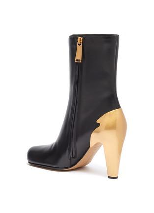 - BOTTEGA VENETA - Metal heel leather boots