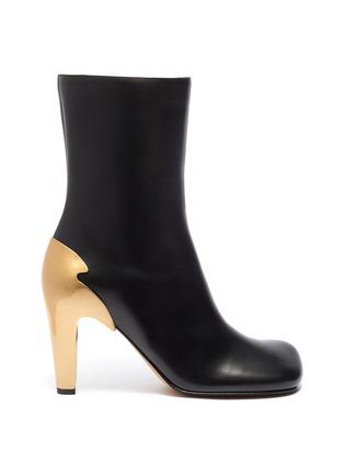 Main View - Click To Enlarge - BOTTEGA VENETA - Metal heel leather boots