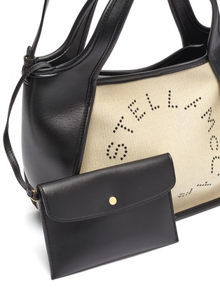Detail View - Click To Enlarge - STELLA MCCARTNEY - Logo embroidered canvas tote bag
